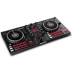 Numark Mixtrack Platinum FX – Console DJ per Serato DJ con 4 decks, mixer DJ, scheda audio integrata, jog wheel con display e palette effetti