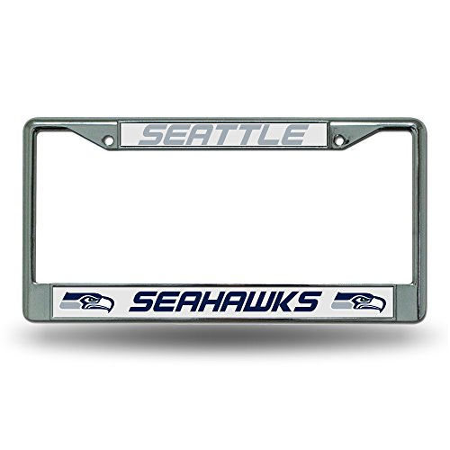 Rico Seattle Seahawks Chrome License Plate Frame