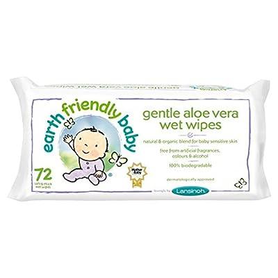 Earth Friendly Baby Gentle Aloe Vera Wet Wipes 72 Per Pack
