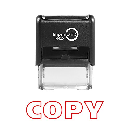 - Imprint 360 AS-IMP1003 - COPY, Heavy Duty Commerical Quality Self-Inking Rubber Stamp, Red Ink, 9/16
