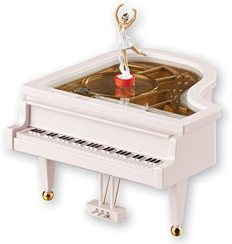 Melody Castle in the Sky Classical Grand Piano Shape Mechanism Ballerina Girl Dancing Kids Birthday Christmas Gift Toy AVESON Music Box