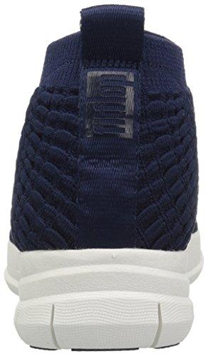 High Top Collo Fitflop Uomo Slip Dark Alto Sapphire a Uberknit Waffle Sneaker on Blue Iq8Tpwt