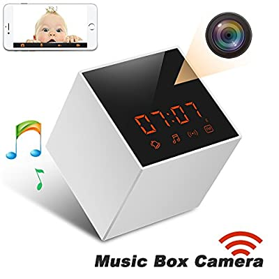 Panoraxy Music WiFi Hidden Camera,Invisible Lens,Wireless Stereo Speaker, US FM Radio, 30fts Night Vision,Remote 720P Video, HD Music, Free App, Loop Record, Instant Push from Panoraxy