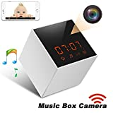 Panoraxy Music WiFi Hidden Camera,Invisible Lens,Wireless Stereo Speaker, US FM Radio, 30fts Night Vision,Remote 720P Video, HD Music, Free App, Loop Record, Free 16G Toshiba Card