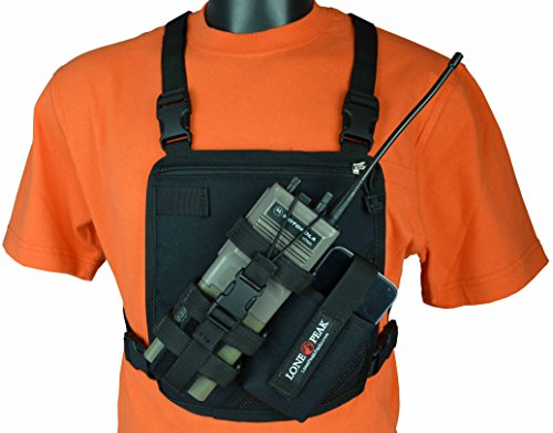 Lone Peak Deluxe Radio & GPS / Cell Phone Chest Harness Pack - Model URH-150