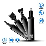 4 In 1 Electronic Nose Ear Hair Trimmer for Men Women, Painless Trimming, Water Resistant Dual Edge Blades
