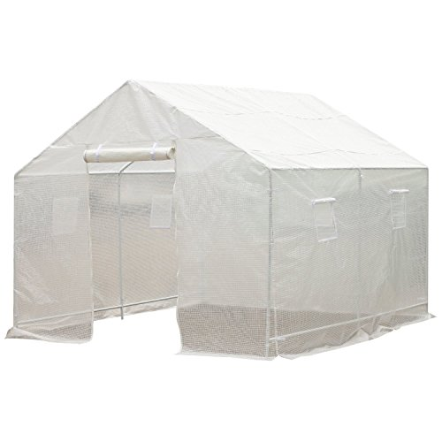 Outsunny 10′ x 9.5′ x 8′ Ventilated Portable Walk-in Greenhouse with PE Cover