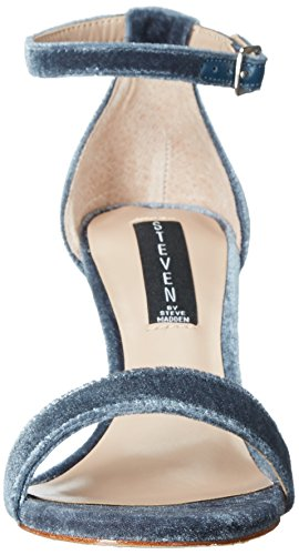 Steven By Steve Madden Women Viienna Dress Sandalo Blu Velluto