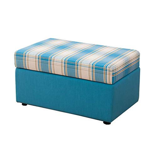 JYKOO Ottoman Footstool, Rectangle Pouf Ottoman Foot Stool Foot Rest with Removable Linen Fabric Cover,C,L:805042CM from JYKOO