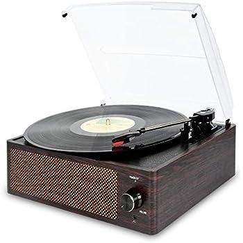 Amazon.com: Record Player Turntable 3 Speed Vinyl Record ...