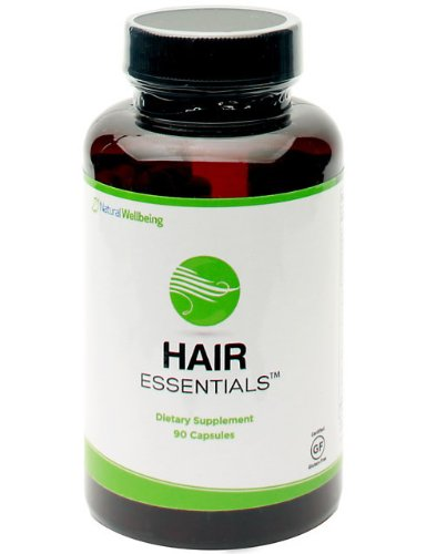 Hair Essentials Natural, Herbal Hair Growth Supplement for Women & Men - DHT Blocker, Provides Nutrients to Help Repair and Nourish Thinning Hair - Daily Capsules Fight Hair Loss and Promote New Growth - 90 Capsule Bottle