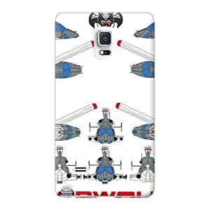 Anti-Scratch Hard Phone Cases For Samsung Galaxy Note 4 With Unique Design Attractive Airwolf Layout Image ErleneRobinson