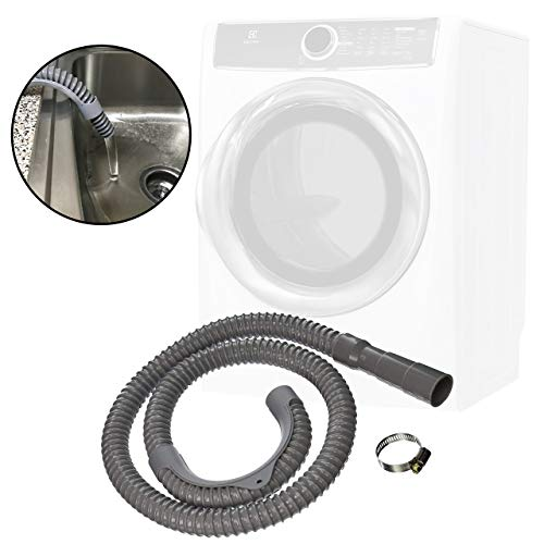 Washing Machine Drain Discharge Hose 12 ft Extra Long Universal Fit Outlet End Fits 1-Inch, 1-1/8-Inch, And 1-1/4-Inch Stub Outs by QUALITY HOSES
