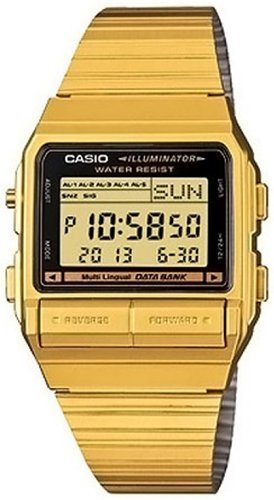 Casio Gold Dial - Casio Men's DB380G-1 Gold Gold Tone Stainles-Steel Quartz Watch with Digital Dial