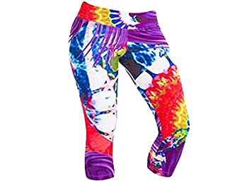Women's Protokolo Yoga Capri Tights Leggings Passion Print (M)