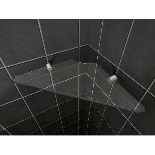 Étagère d'angle tablette en verre sécurisé pour douche 8 mm