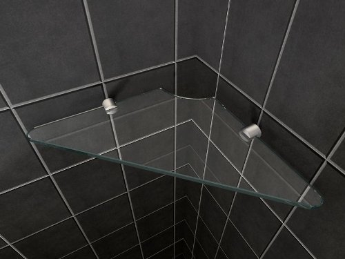 8 mm Clear Safety Glass Shower Shelf for Walls or Cubicles Glasdeals 333