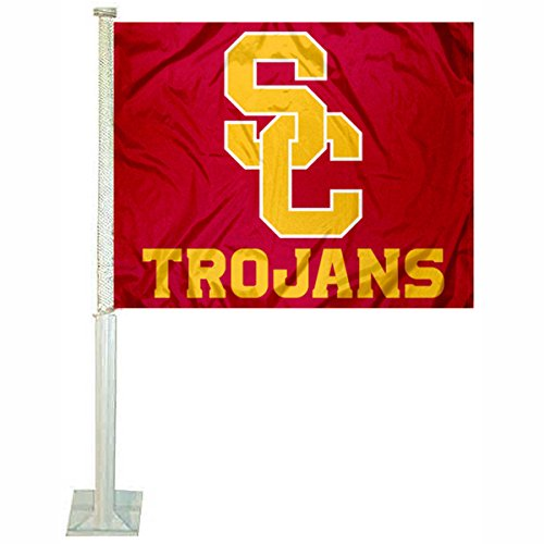 Southern Cal USC Trojans SC Logo Car and Auto Flag