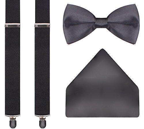CEAJOO+classic+men%27s+tie+suspenders+set+solid+black+suspenders+for+men+Solid+Black