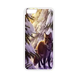 """UNI-BEE PHONE CASE For Apple Iphone 6,4.7"""" screen Cases -Fox Pattern-CASE-STYLE 8"""