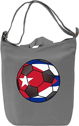 Cuba Football Borsa Giornaliera Canvas Canvas Day Bag| 100% Premium Cotton Canvas| DTG Printing|
