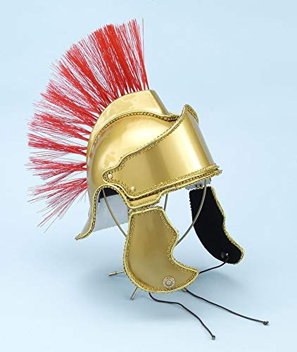 Forum Deluxe Crested Roman Costume Helmet, Gold, One Size