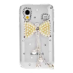 GONGXI-Bling Bling Bowknot caso duro del diseño elegante con el Rhinestone para Samsung Galaxy Ace S5830
