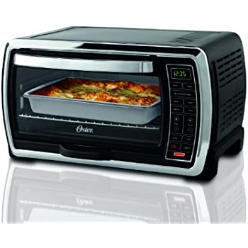 Oster Large Capacity Countertop 6 Slice Digital Convection Toaster Oven Black Polished Stainless TSSTTVMNDG
