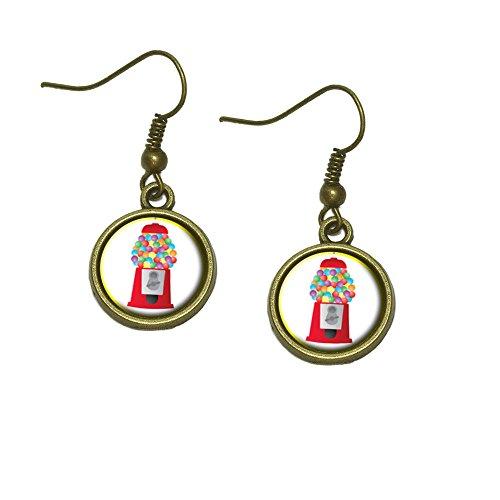 Gumball Machine Candy Dangle Dangling Drop Earrings