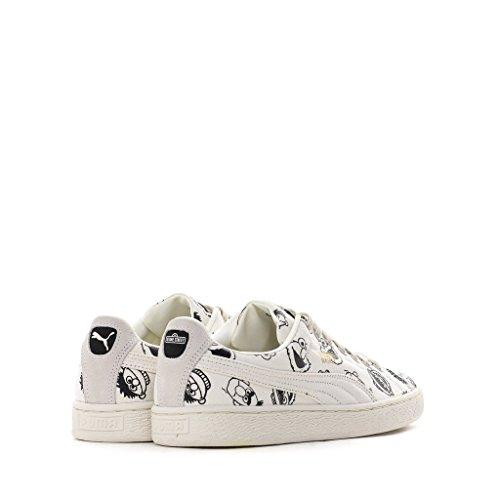Scegli Puma Selezionare Mens X Sesame Street Basket Sneakers Whisper White