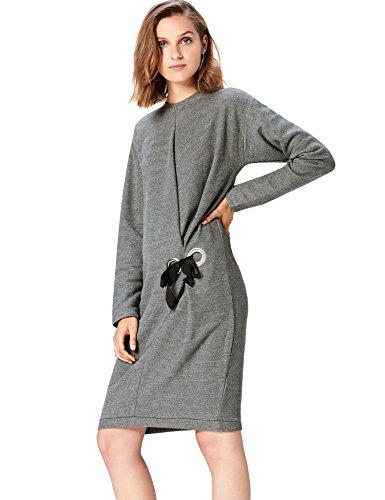 FIND Vestido Sudadera para Mujer Gris (Grau)