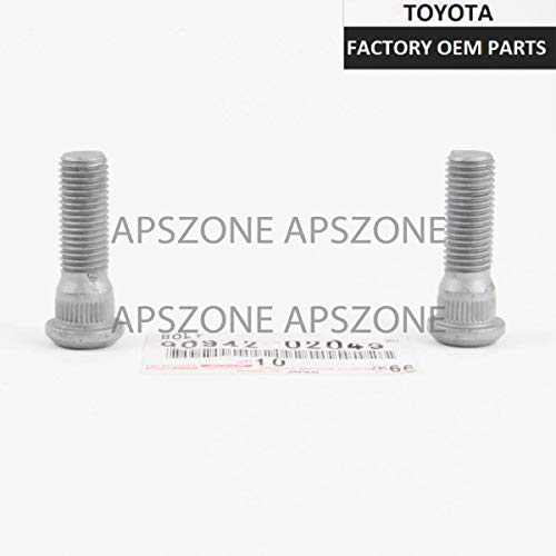 ECCPP Replacement for Wheel Lug Nuts 24 Pieces 2 Keys 12x1.5 Red Chrome Spline Bulge Acorn Drive Close End Lug Nuts for Toyota 1997-2016