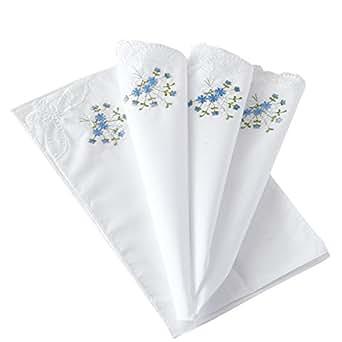 Cotton Embroidery Ladies' Handkerchiefs Lace Set of 6
