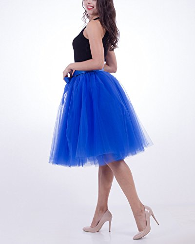 Comall Rtro 7 Vintage Petticoat 65cm en Bordeaux Jupe Tulle sous Couches Tutu Femme Robe Jupon rPwAqBSr
