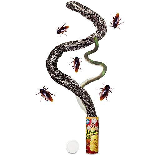 NaNa Halloween Party Decorations, ANAN Gag Gifts Fake Snake Photo Chip Snake Trick Toys ()