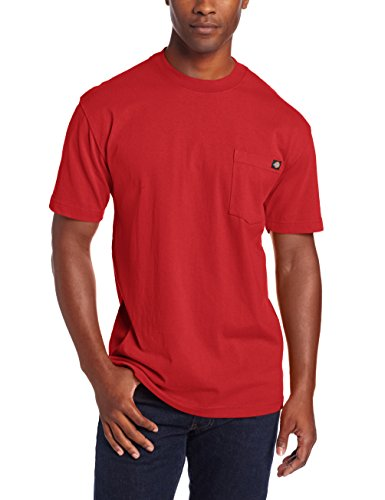 Dickie's Men's Heavyweight Crew Neck Short Sleeve Tee Big-tall,English Red,2X-Large ()