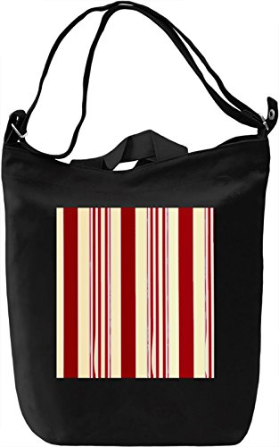 Vertical Stripes Print Borsa Giornaliera Canvas Canvas Day Bag| 100% Premium Cotton Canvas| DTG Printing|