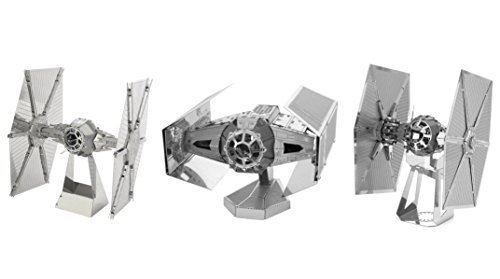 Fascinations Metal Earth Star Wars 3D Model Kits: Tie Fighter, DV Tie Fighter, and Special Forces Tie Fighter - 3pc Bundle