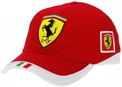 Original Ferrari Gorra/Gorro/Gorra Team Scuderia Ferrari rojo ...