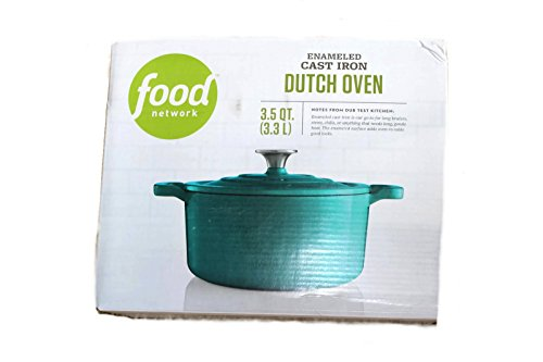Food Network 3.5 qt Enameled Cast-Iron Dutch Oven Turquoise