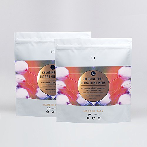 L Organic Pads >> L Organic Cotton Chlorine Free Ultra Thin Liners 40 Count