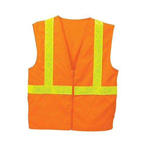 (Port Authority SV01 Safety Vest - Safety Orange/ Reflective - L/XL)