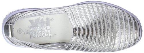 Xti Trainers On Women's Silver Slip Platinium 48059 SwqgSRv1r