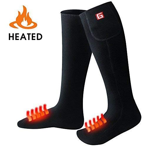 GLOBAL VASION Electric Heated Socks with Rechargeable Battery for Chronically Cold Feet (BlackL) by GLOBAL VASION