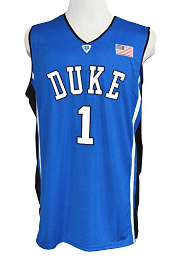 CRISGIORD Men's Duke Blue Devils College Basketball NO.1 Kyrie Irving Jersey M Blue