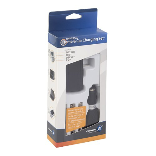 Universal Home and Car Charging Set Nintendo DS, New 3DS XL, 3DS, 3DS XL, DSi & DSi XL, DS Lite and PSP