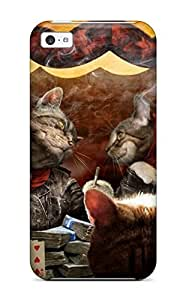 Iphone 5c Cover Case - Eco-friendly Packaging(poker Cats!)