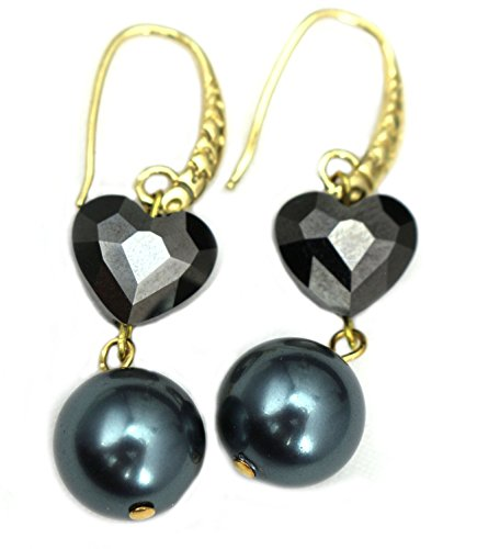 Swarovski Tahitian Pearls Made in USA Gift Boxed Elegant (Tahitian Pearl Heart)