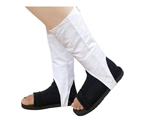DAZCOS US Size Ninja Cosplay Shoes With White Outer Covers