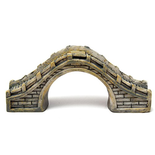 - 1PC Micro Landscape Decoration Resin Span Pedestrian Bridge Architectural Model Accessories Garden Decor gray